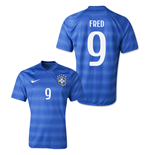2014-15 Brazil World Cup Away Shirt (Fred 9)
