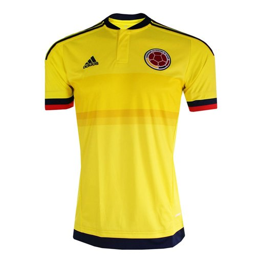 2015-2016 Colombia Home Adidas Football Shirt