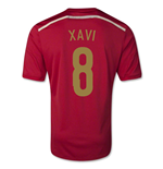 2014-15 Spain World Cup Home Shirt (Xavi 8) - Kids
