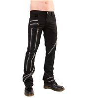 Black Pistol Zipper Pants Denim