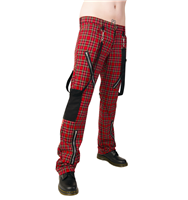 Black Pistol Punk Pants Tartan