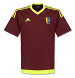 2015-2016 Venezuela Home Adidas Football Shirt