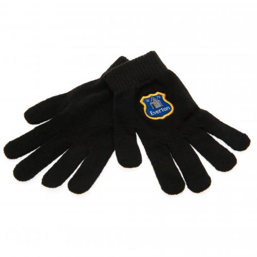 Everton F.C Knitted Gloves Junior BLK