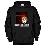 Hoodie with flex printing - SIMPLE STRANGERS