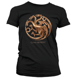 Game Of Thrones Ladies T-Shirt Chrome Targaryen