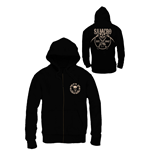 Sons of Anarchy Zipped Hooded Sweater SAMCRO Chained