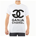 "Entics T-shirt design: ""GANJA CHANEL"""