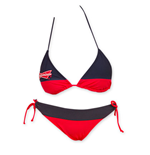 BUDWEISER Women's Red And Blue Bikini