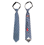 Navy Blue And White Hidden Flask Tie
