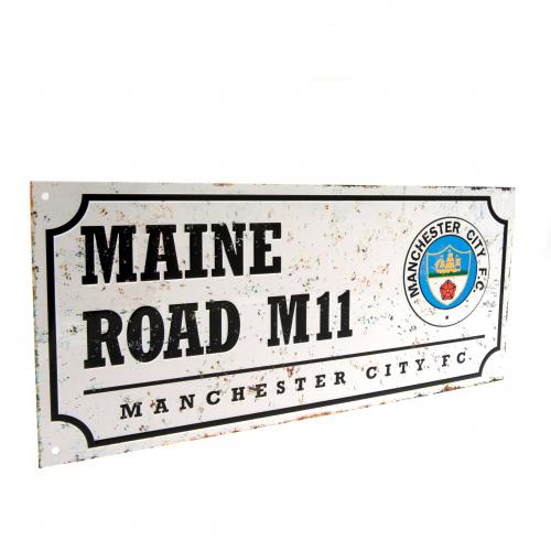 Manchester City F.C. Retro Street Sign