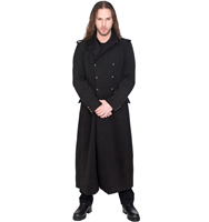 Black Pistol Army Coat Wool
