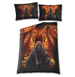 Flaming Death - Single Duvet Cover + UK And EU Pillow case