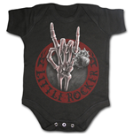 Little Rocker - Baby Sleepsuit Black
