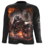 Steam Punk Rider - Longsleeve T-Shirt Black