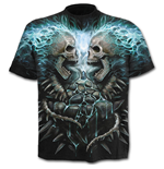 Flaming Spine - Allover T-Shirt Black