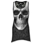 Solemn Skull - Allover Goth Bottom Lace Top Black