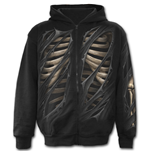 Bone Rips - Full Zip Hoody Black