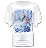 Winter Fairy - Latin Boat Neck Top White