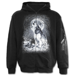 White Wolf - Full Zip Hoody Black