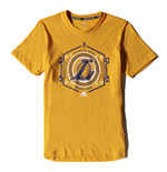2015 LA Lakers Adidas Fanwear Tee (Yellow)