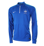 2015-2016 France Nike Squad Midlayer Top (Blue)
