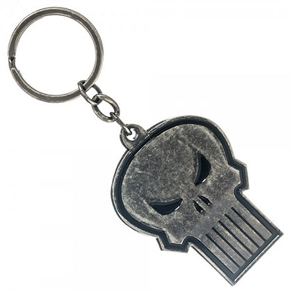 PUNISHER Skull Logo Keychain