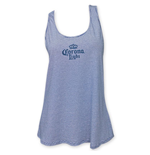 Corona Light Racerback Women's Light Blue Beer Logo Tank Top