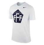 2015-2016 France Nike Core Plus Tee (White)