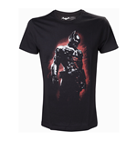 DC COMICS Batman Arkham Knight with Red Glow Extra Large T-Shirt, Black