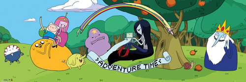 Adventure Time Cast 2 Door Poster