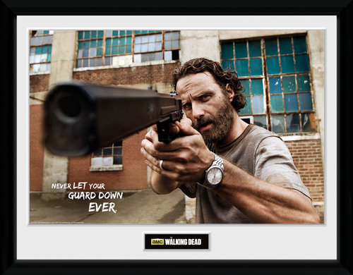 The Walking Dead Rick Gun Framed Collector Print