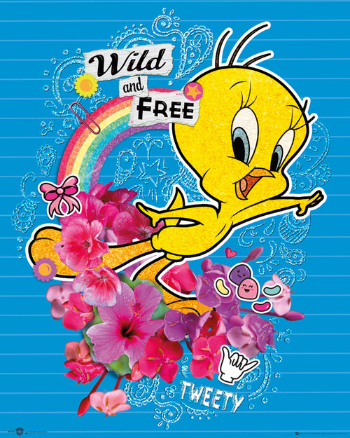 Tweety Pie Wild And Free Mini Poster