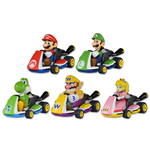Super Mario Bros. Pull Back Cars Mario Kart 8 Display (15)