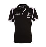 The Sharks 2015 BLK Rugby Performance Polo Shirt (Black)