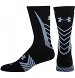 Under Armour 2015 Undeniable Crew Socks (Black-Steel)