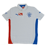 2014-15 Rangers Puma Leisure Polo Shirt (White) - Kids