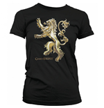 GAME OF THRONES Women's Chrome Lannister Sigil T-Shirt, Small, Black