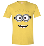 DESPICABLE ME 2 Men's Goggle Face (Daisy) T-Shirt, Large, Yellow