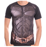 DC COMICS Men's Batman The Dark Knight Uniform Sublimation Print T-Shirt, Large, Black
