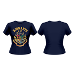 Harry Potter Ladies T-Shirt Hogwarts Crest