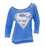 SUPERMAN Burnout Women's Blue Shirt