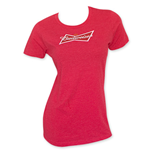 BUDWEISER Women's Red Crew Neck T-Shirt