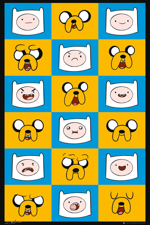 Adventure Time Expressions Maxi Poster