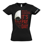 PAYDAY 2 Women's Wolf Mask Extra Large T-Shirt, Black