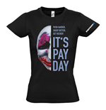 PAYDAY 2 Women's Houston Mask Medium T-Shirt, Black