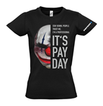 PAYDAY 2 Women's Chains Mask Medium T-Shirt, Black