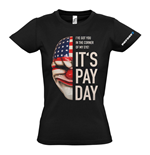 PAYDAY 2 Women's Dallas Mask Medium T-Shirt, Black