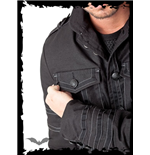 Black Jacket with decorative Seams and F