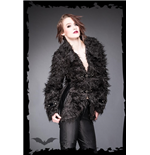 Black Furry Jacket with Buckles