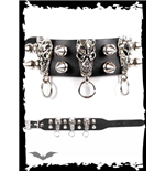 Bracelet with daemons,rings & cone studs